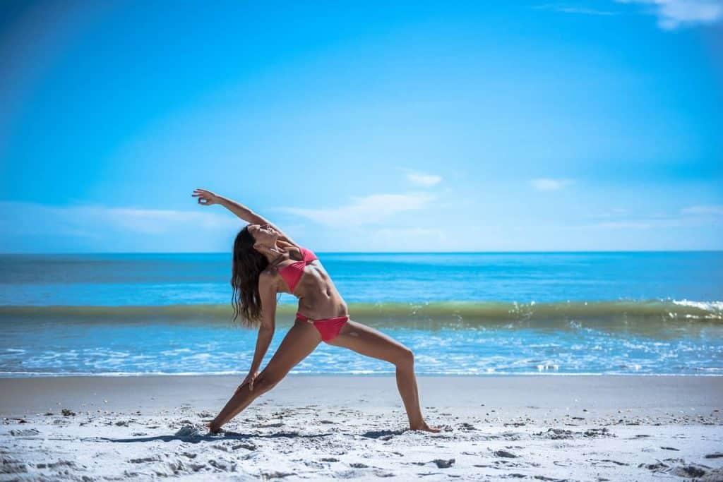 Beach Yoga on Cozumel
