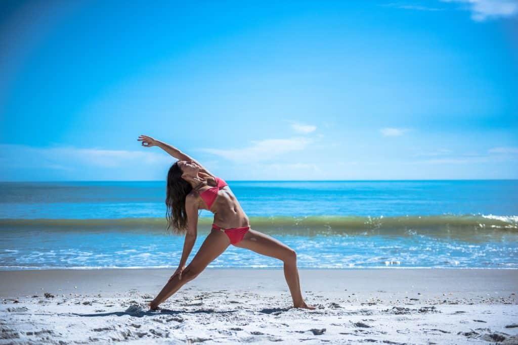 Beach Yoga on Cozumel - stingray villa