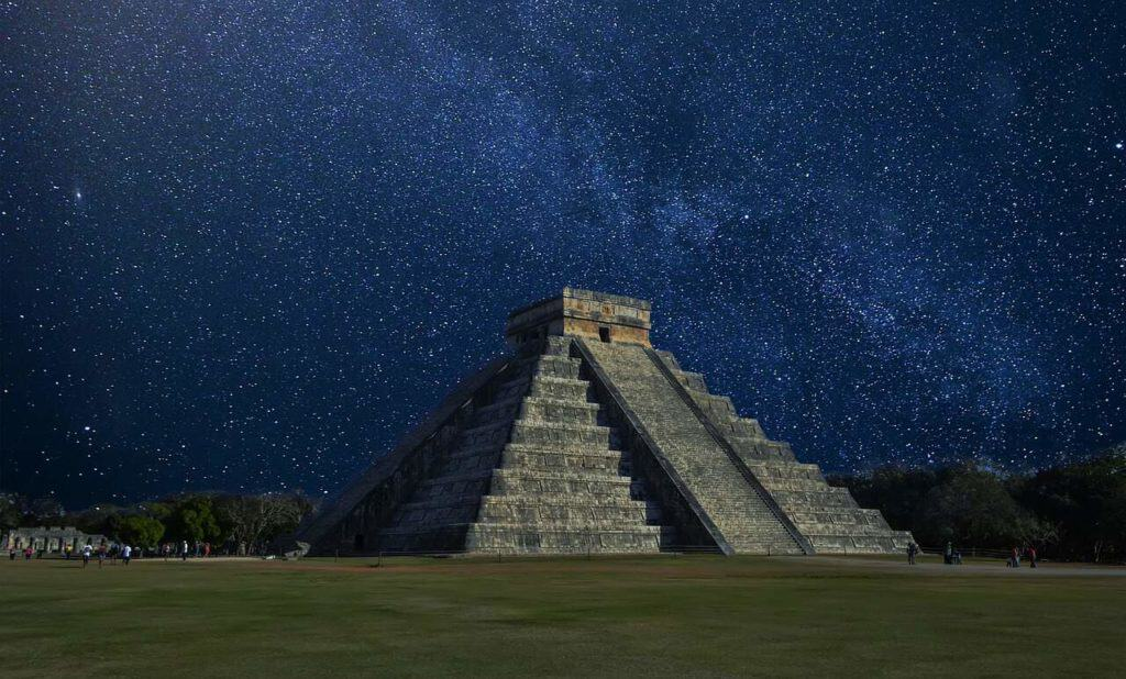 Mayan ruin at night - stingray villa, Cozumel