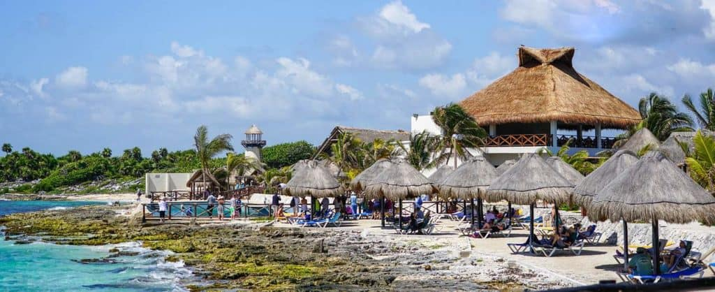A beach club near Stingray Villa Cozumel